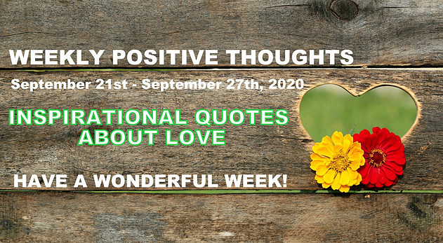 weekly quotes