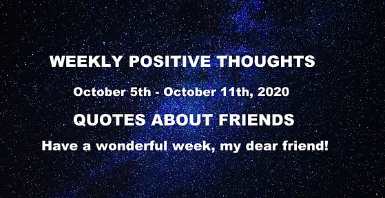 weekly thoughts