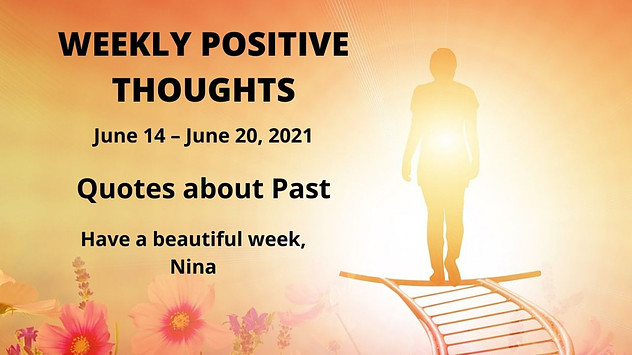 weekly positive thoughts