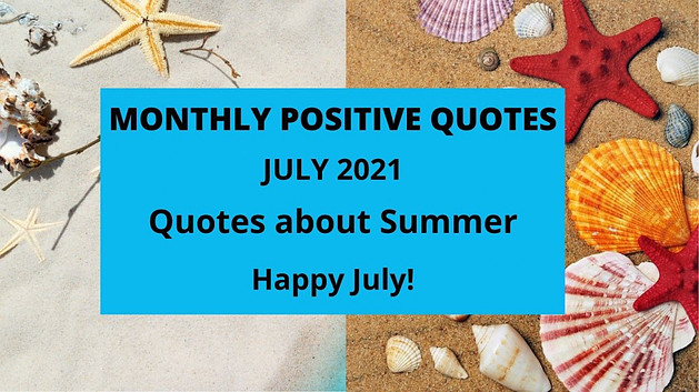 monthly positive quotes